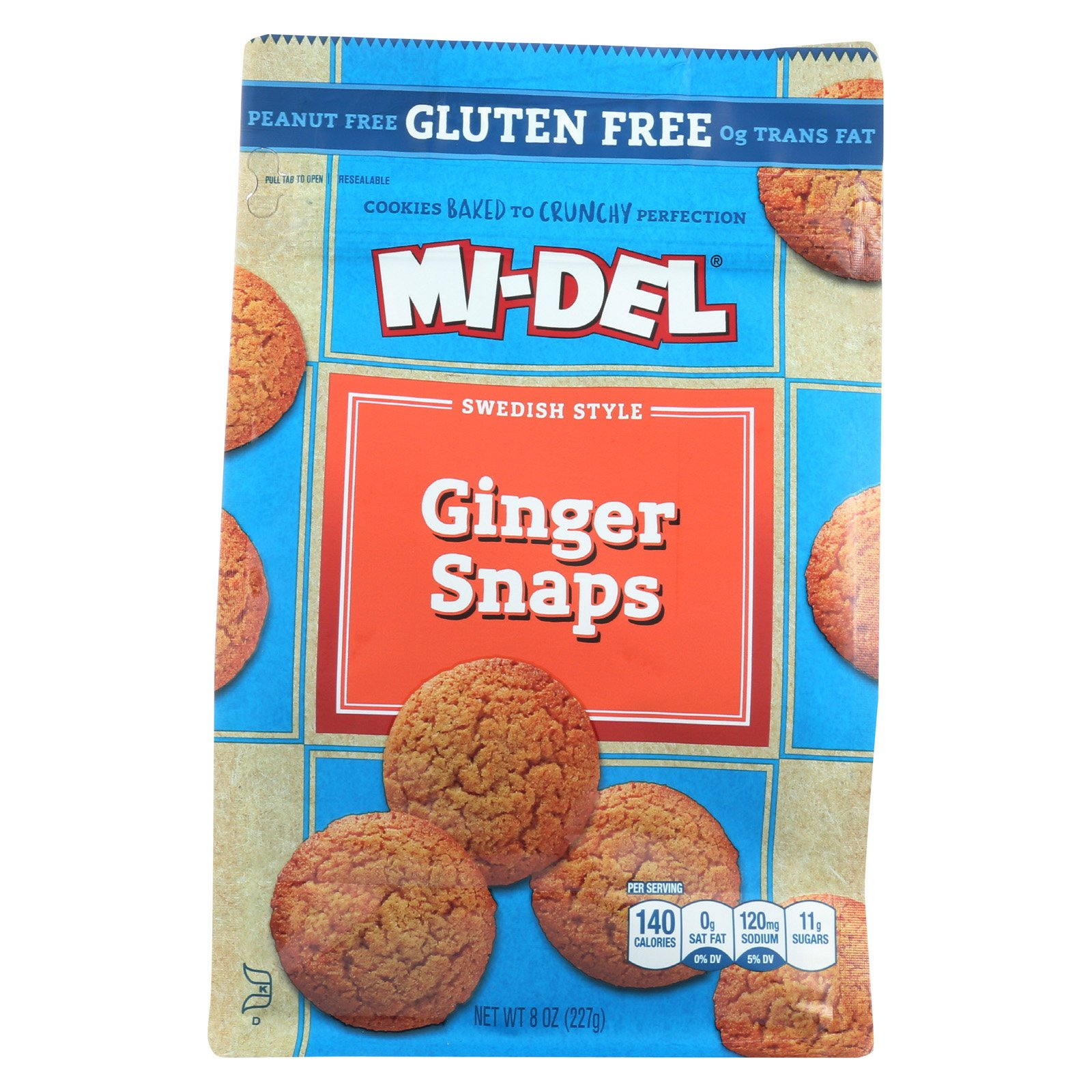 Midel Cookies - Ginger Snaps - Case of 8-8 oz