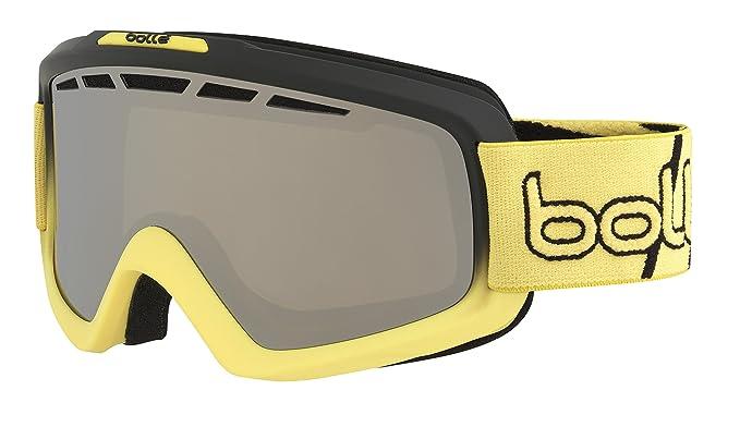 6e771a97e Amazon.com : Bolle Nova Ii Matte Gradient Black Chrome Googles, Black/Yellow,  One Size : Sports & Outdoors