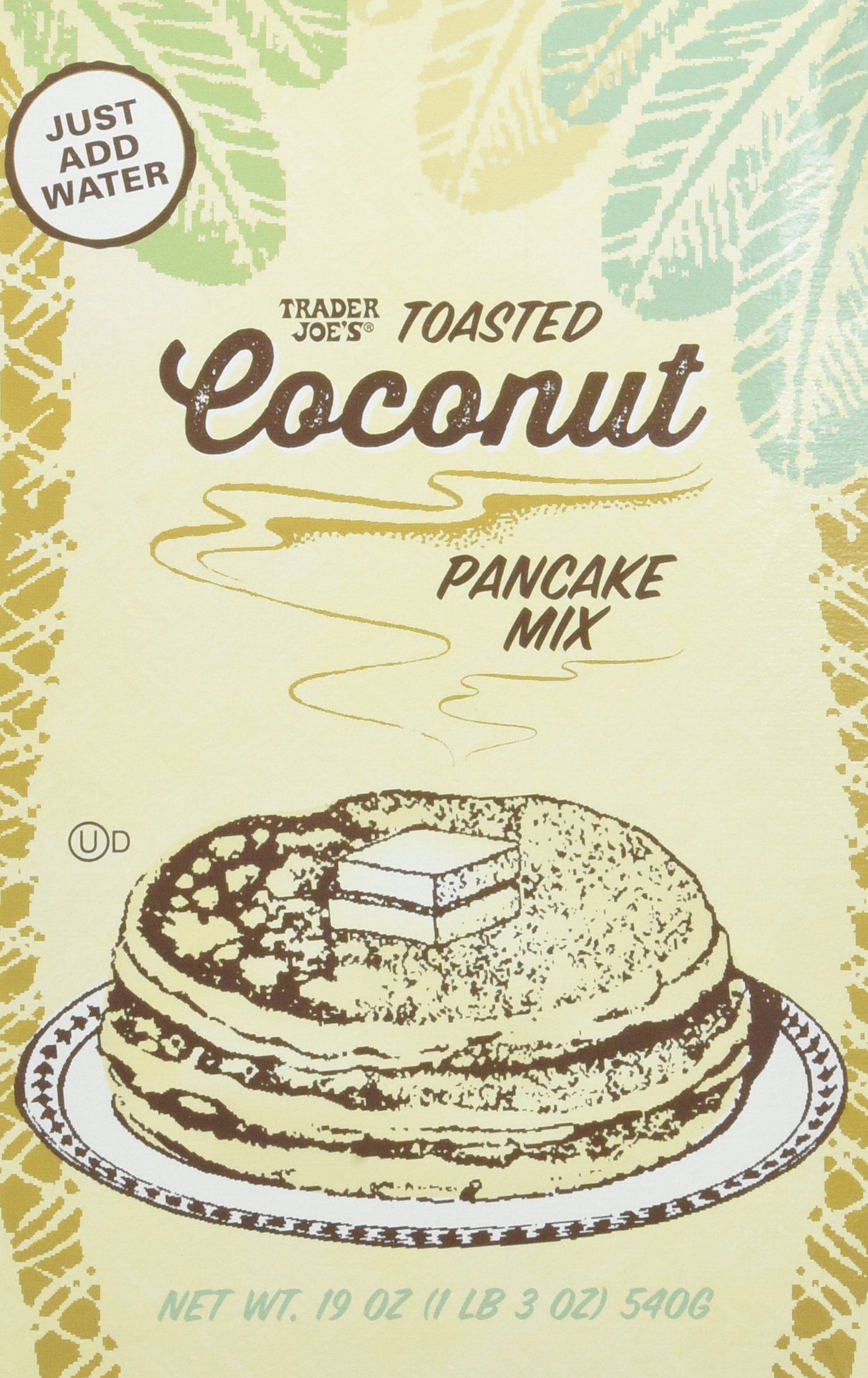 Trader Joes Toasted Coconut Pancake Mix 19oz