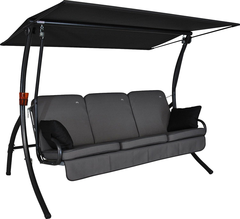 Angerer Primero Style Hollywoodschaukel Style, Grau, 3-Sitzer