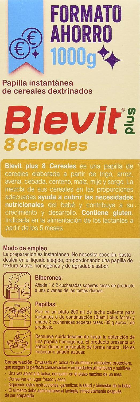 Blevit Plus 8 Cereales - Paquete de 2 x 500 gr - Total: 1000 gr: Amazon.es: Alimentación y bebidas