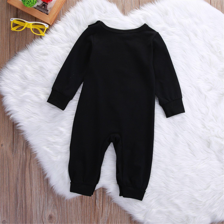 Susan1999 Newborn Infant Baby Boy Girl Long Sleeve Bottle Milk Romper Cotton Jumpsuit Sleepsuit Outfits