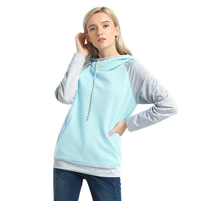 138d3ad4a149 MCEDAR Women s Pullover Hoodie Sweatshirts Casual Cotton Knitted Long  Sleeve Lightweight Tunic Tops