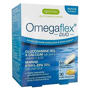 Omegaflex DUO Clorhidrato de glucosamina, aceite de pescado ...