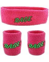 Funny Guy Mugs Party/Rage Unisex Sweatband Set (3-Pack: 1 Headband & 2 Wristbands)