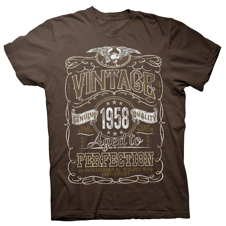 Vintage Est 1958 61 cadeau d/'anniversaire âgé à la Perfection 61 ans Femme Tops T-Shirt
