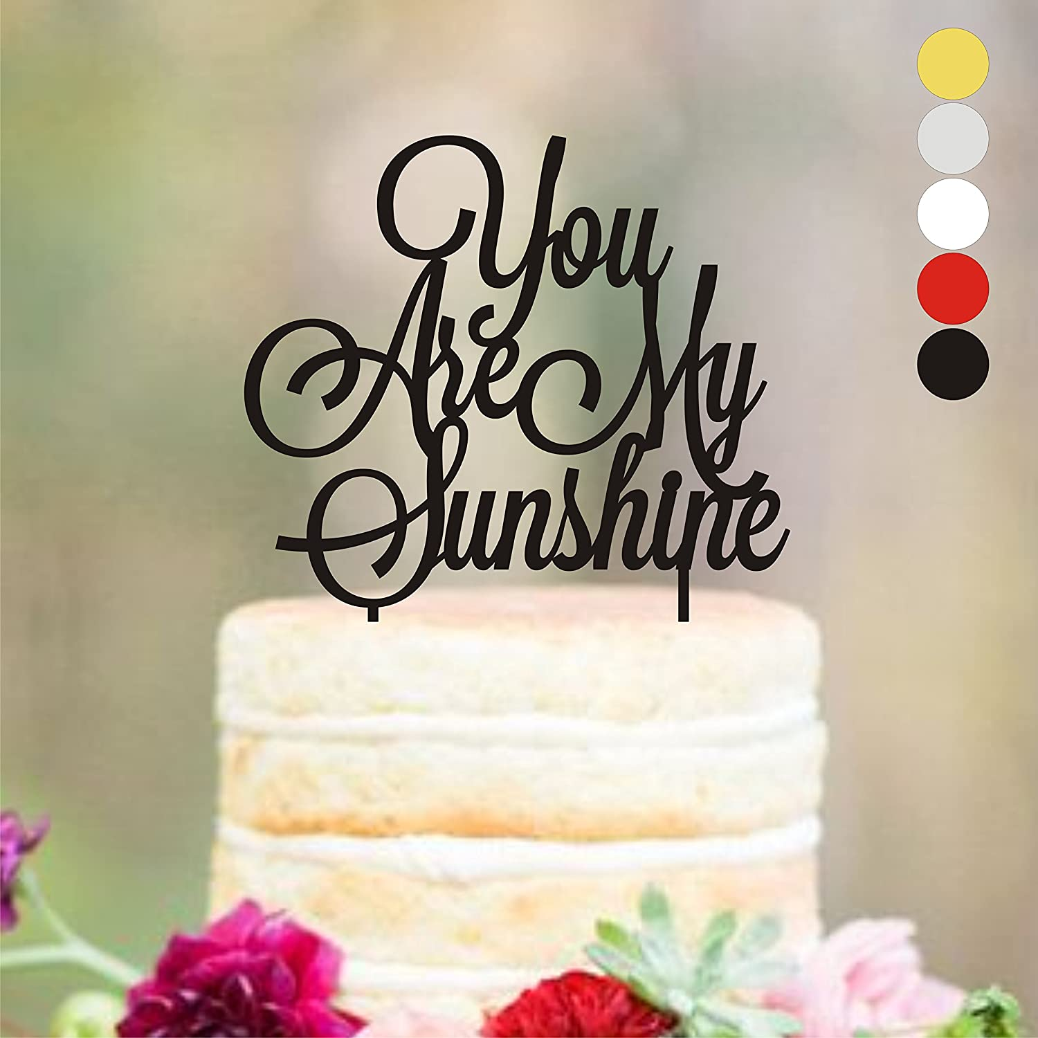 You Are My Sunshine Cake Topper Sunflower Baby Shower Cake Topper