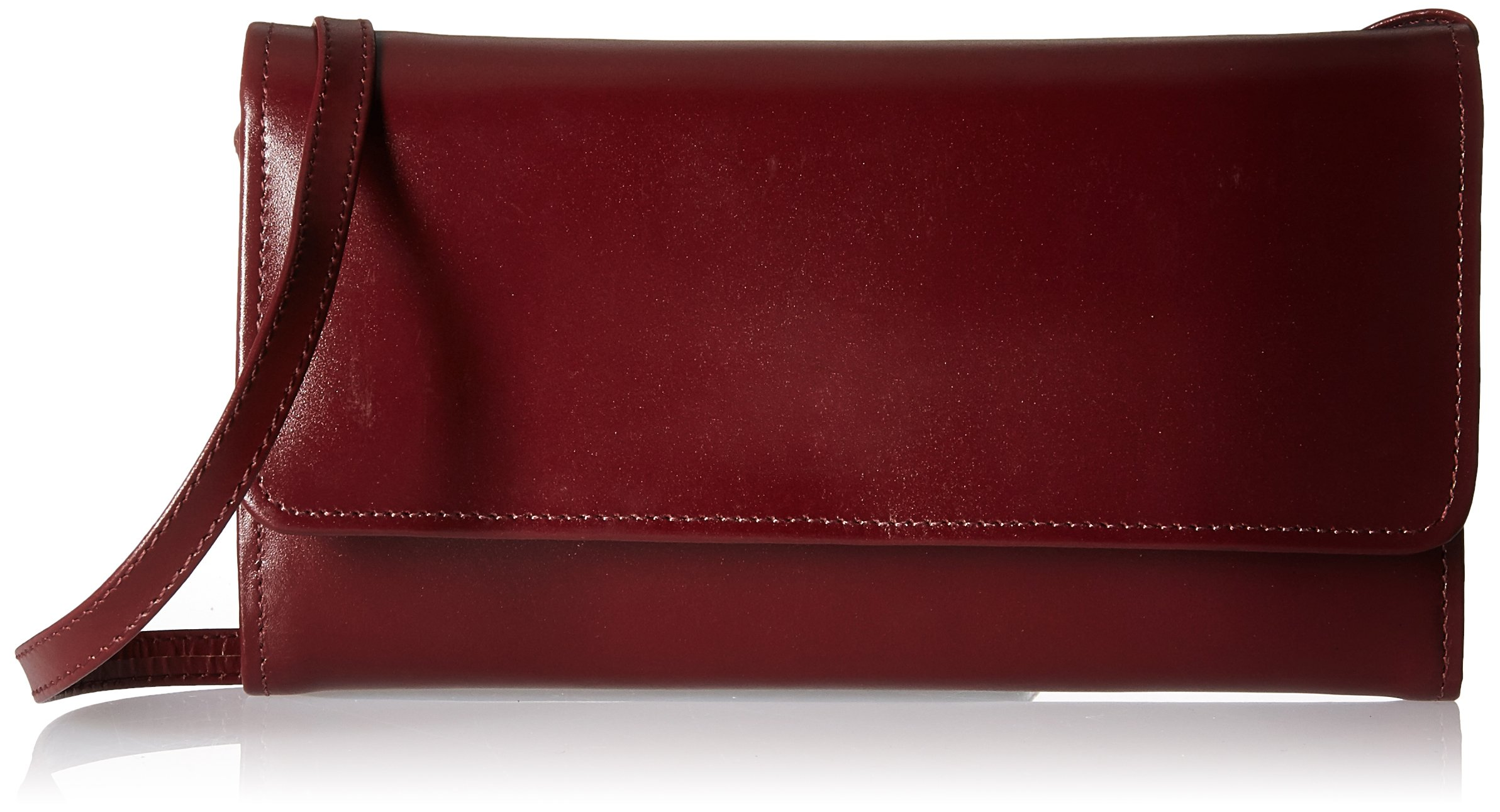 Claire Chase Women's Tri-fold Crossbody Wallet, Cognac