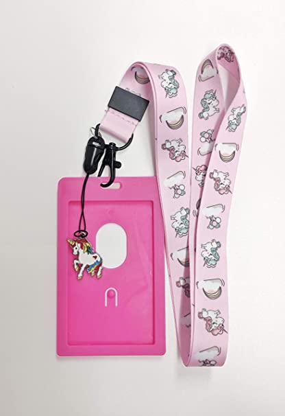 Amazon com : Cute Unicorn Lanyard w/ID Badge Holder and Charm