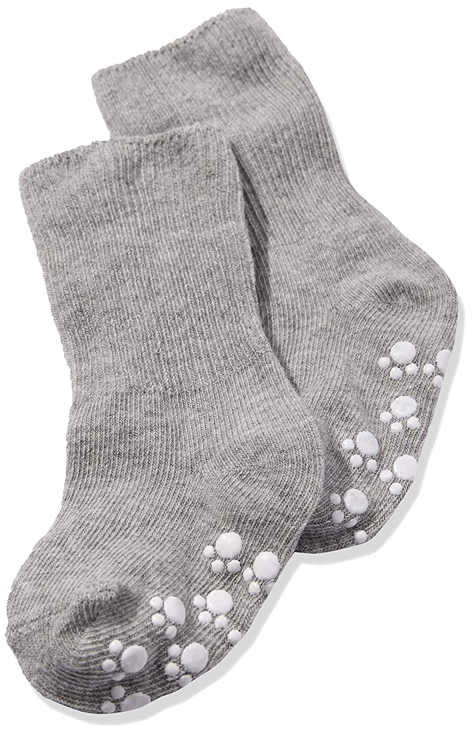 Living Life Baby Cotton Socks Non Slip Soles with Grip Pack of Six Pairs for Infants Boys Girls