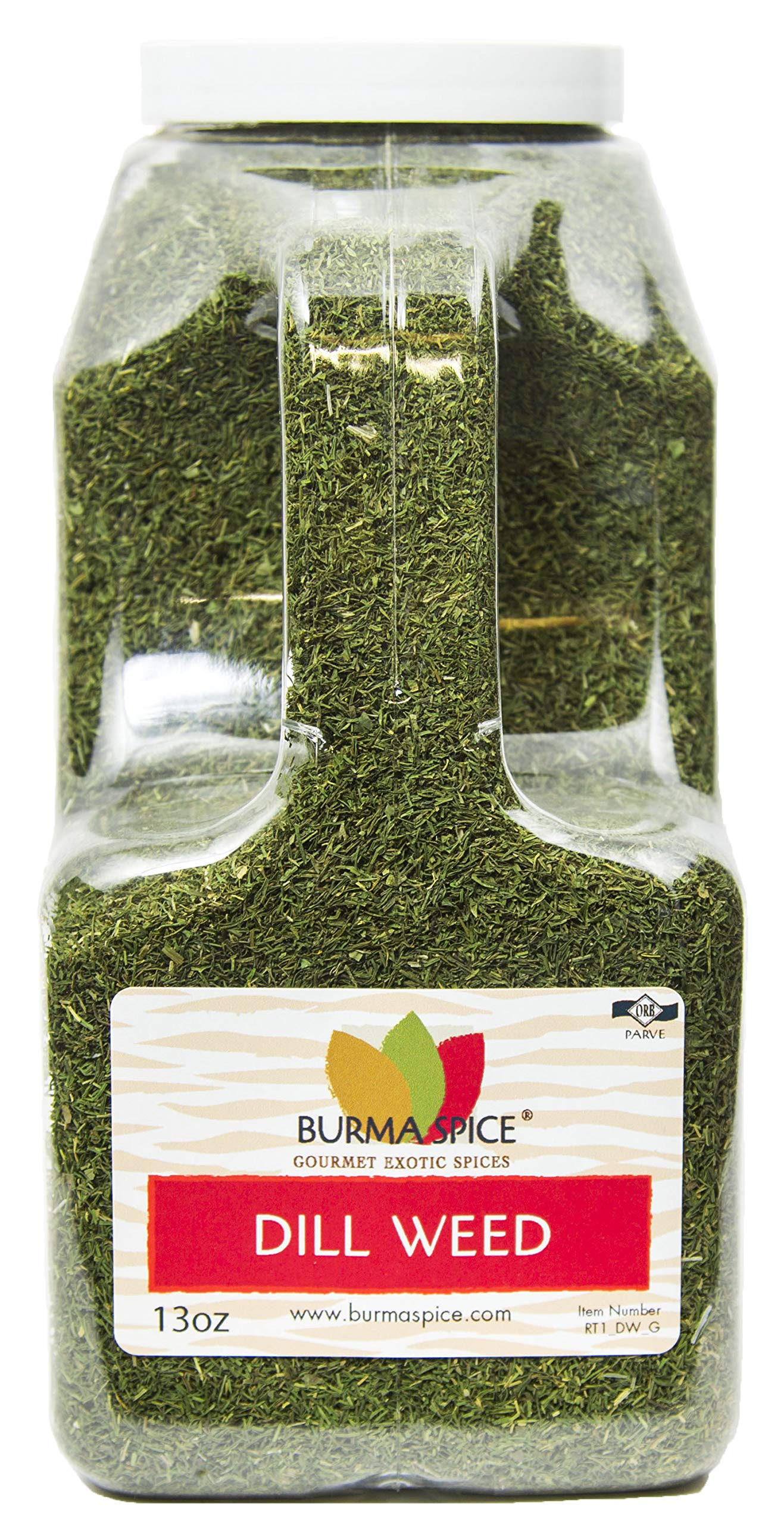 Dill Weed : Dried Natural Herb Seasoning Spice : Kosher Certified (13oz.)