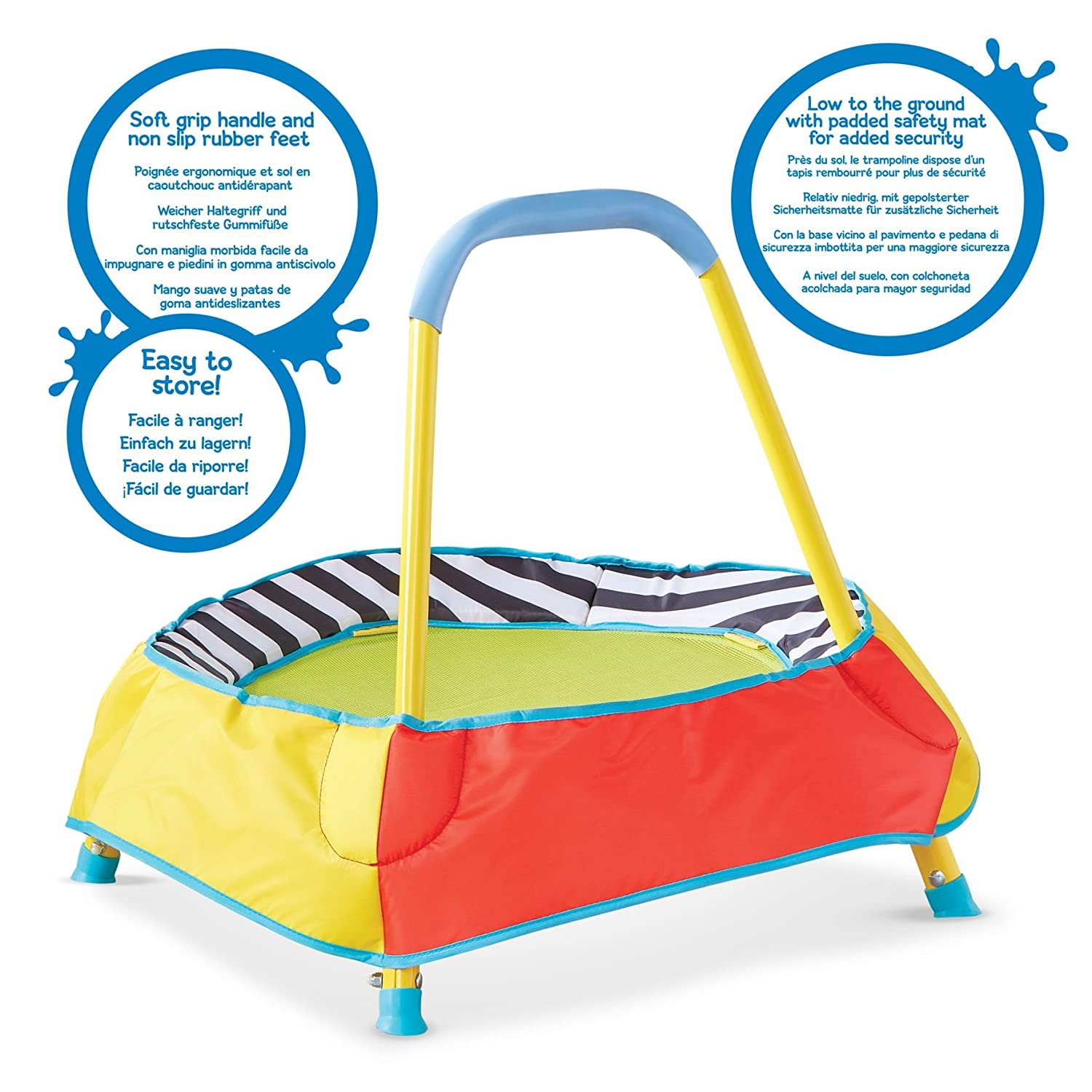 Amazon.com: KidActive Childrens Toddler Indoor Trampoline ...