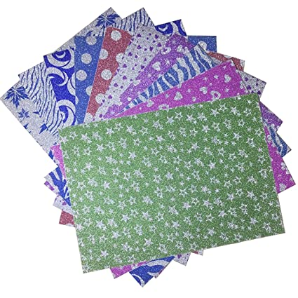 Amazon Heidi Craft 10 X A4 Glitter Mixed Patterns Sheet Paper