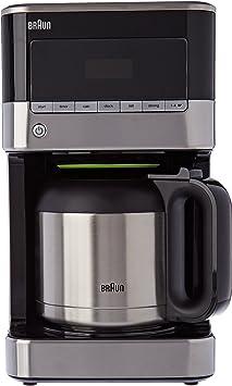 Braun kf7125bk cafetera de 12 tazas programable acero inoxidable/negro 1000 W: Amazon.es: Hogar