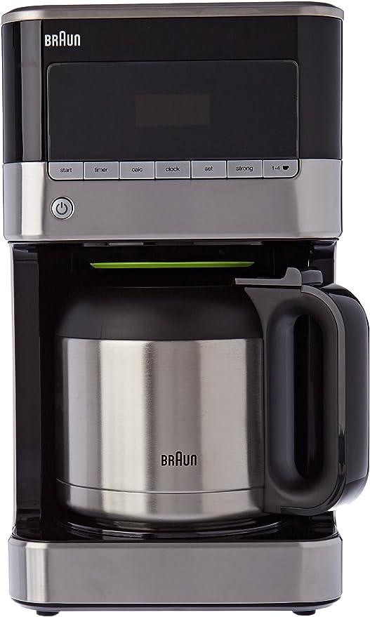 Braun kf7125bk cafetera de 12 tazas programable acero inoxidable ...