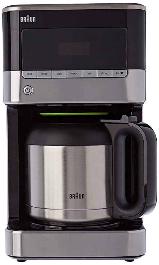 Braun kf7125bk cafetera de 12 tazas programable acero inoxidable/negro 1000 W