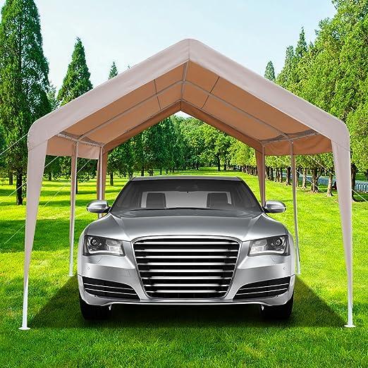 Azadx Cobertizo de coche resistente de 3 m x 20 m, toldo para carro al aire libre