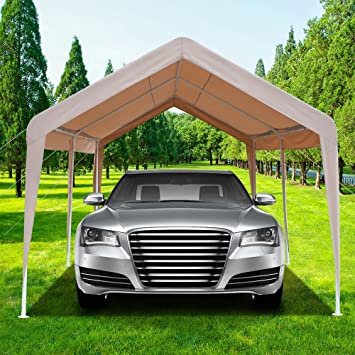 Azadx Cobertizo de coche resistente de 3 m x 20 m, toldo para carro al aire