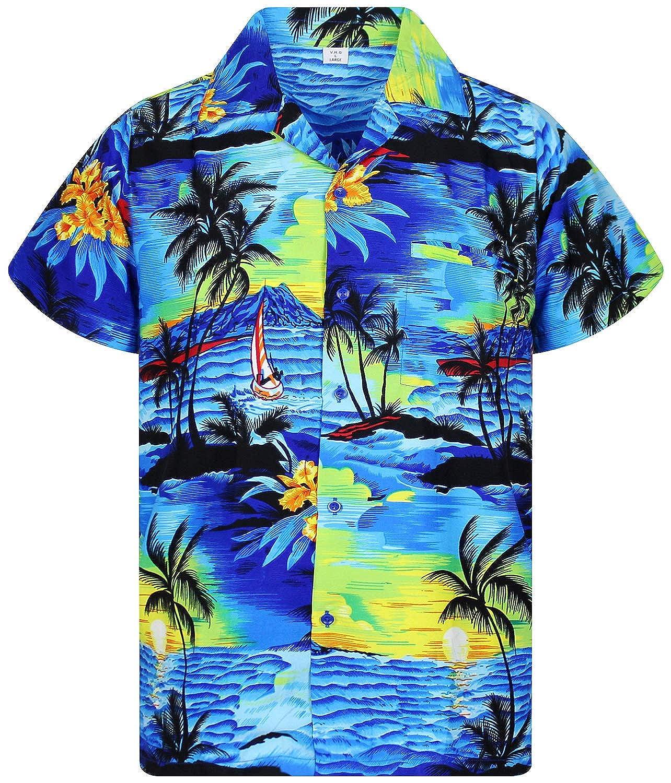 TALLA 3XL. Original King Kameha | Funky Camisa Hawaiana Señores | XS -12XL | Manga Corta | Bolsillo Delantero | impresión De Hawaii| Surf |diferentes colores