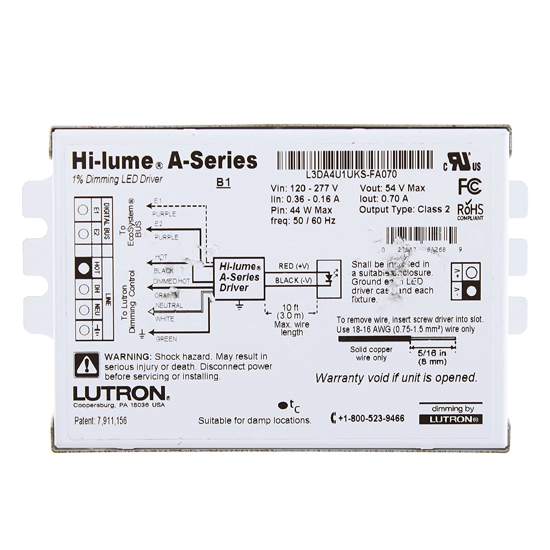 81sTbuH qZL._SL1500_ lutron l3da4u1uks fa070 hi lume a series led 1% architectural lutron hi-lume 3d dimming ballast wiring diagram at gsmportal.co