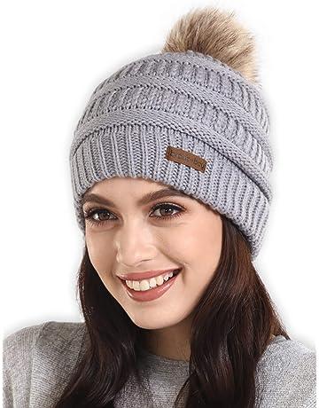 c94cdef4f Brook + Bay Faux Fur Pom Pom Beanie - Stay Warm   Stylish - Thick