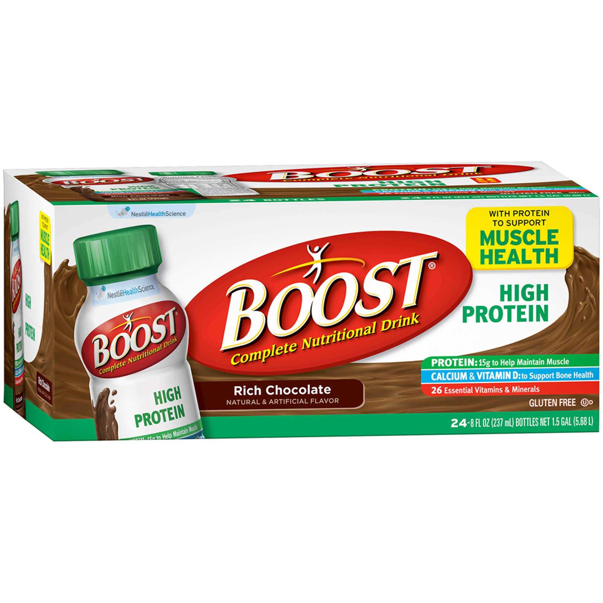 Boost High-Protein Drink, Chocolate, 24 pk./8 oz. by evaxo (Image #1)