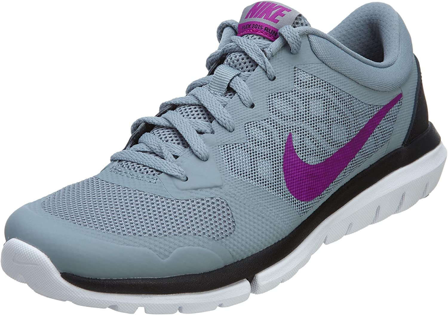 Nike Flex 2015 RUN Dove Grey Black Classic Charcoal Fuchsia Flash Women s Running Shoes Dove Grey Black Classic Charcoal Fuch.
