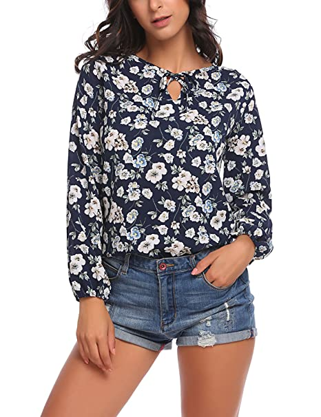 6a4332052 Image Unavailable. Image not available for. Color: SE MIU Women's Chiffon Long  Sleeve Polka Dot Office Button Down Blouse ...