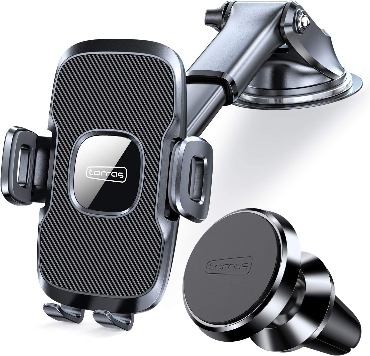 TORRAS Cell Phone Holder for Car + Magnetic Car Phone Mount for Air Vent