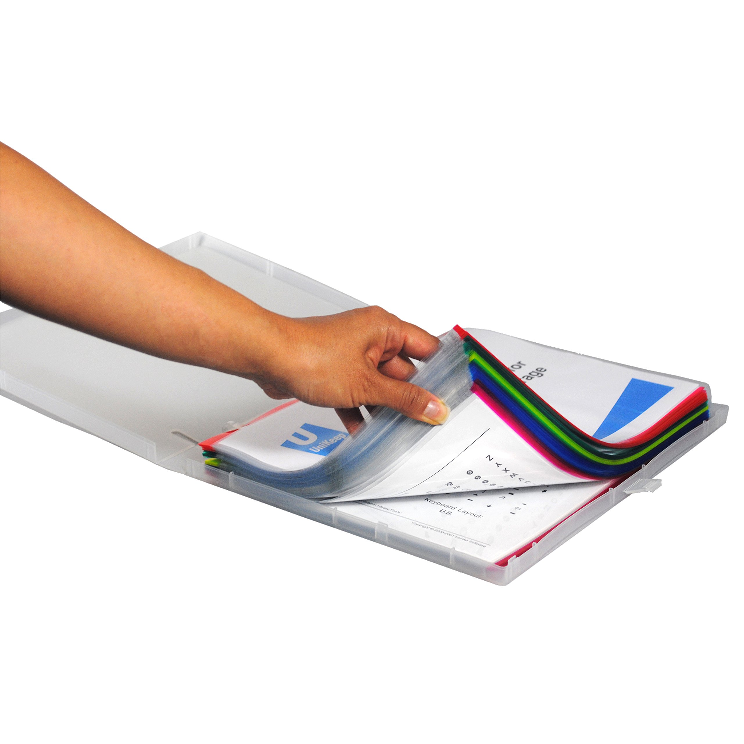 Sheet Protectors Color-Coded Edges 8.5 X 11 Pack of 100 (Assorted) by EnvyPak (Image #2)