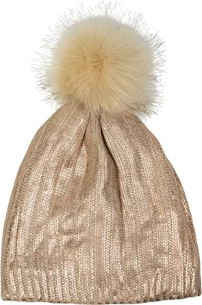styleBREAKER Warm Bobble hat in Metallic Look a29bc31fa7d
