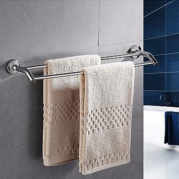 ZXC Bathroom racks Baño Rack, sin perforación, Acero Inoxidable 304 Toallas/Polo Polo Colgantes, Extended WC, monopolar, Toalla de baño Estante Colgante ...