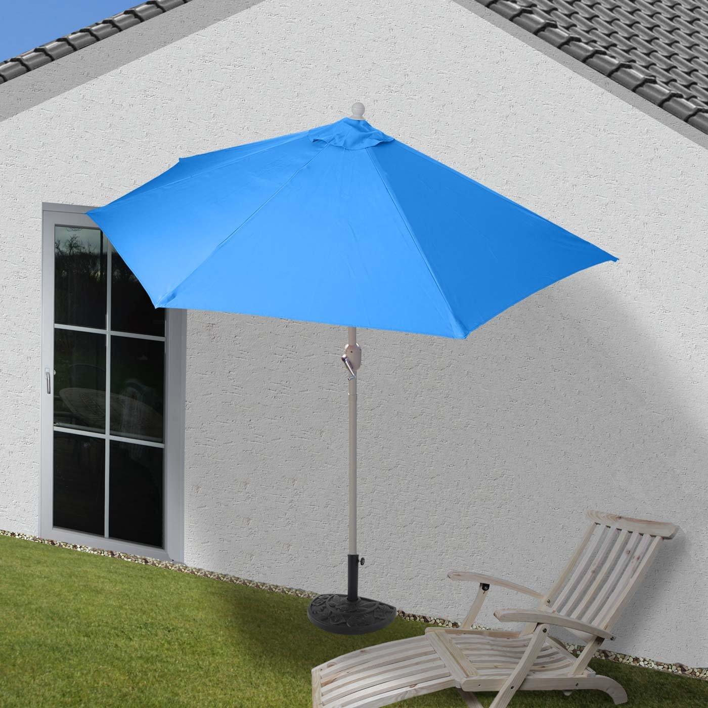 Mendler Parasol Parla ~ 270cm Anthracite avec Pied h/émicycle Parasol de Balcon UV 50