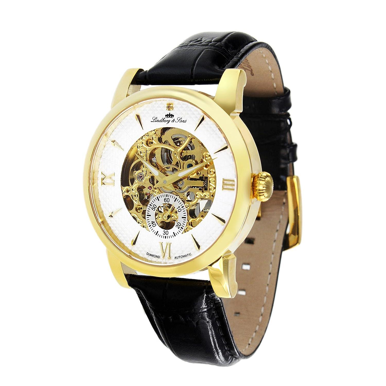 Lindberg & Sons Reloj analógico para Hombre de automático con Correa en Piel SK14H048