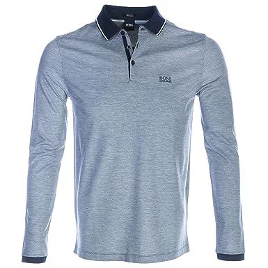 e6de27a4 Hugo Boss Boss Pearl 08 Long Sleeve Polo Shirt In Navy - NAVY - XXXL:  Amazon.co.uk: Clothing