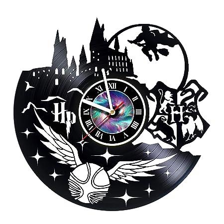 KravchArt HARRY POTTER – Vinyl Record Wall Clock Decor Fan Art – – Get unique living room wall decor – Gift ideas for friends, teens, men and women, girls and boys