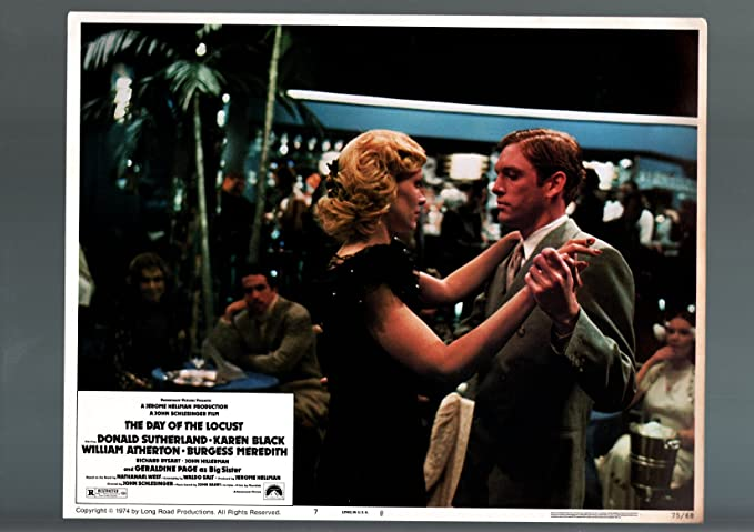 Amazon Com Movie Poster The Day Of The Locust Donald Sutherland Karen Black Vf Nm 7 Lobby Card Vf Nm Entertainment Collectibles