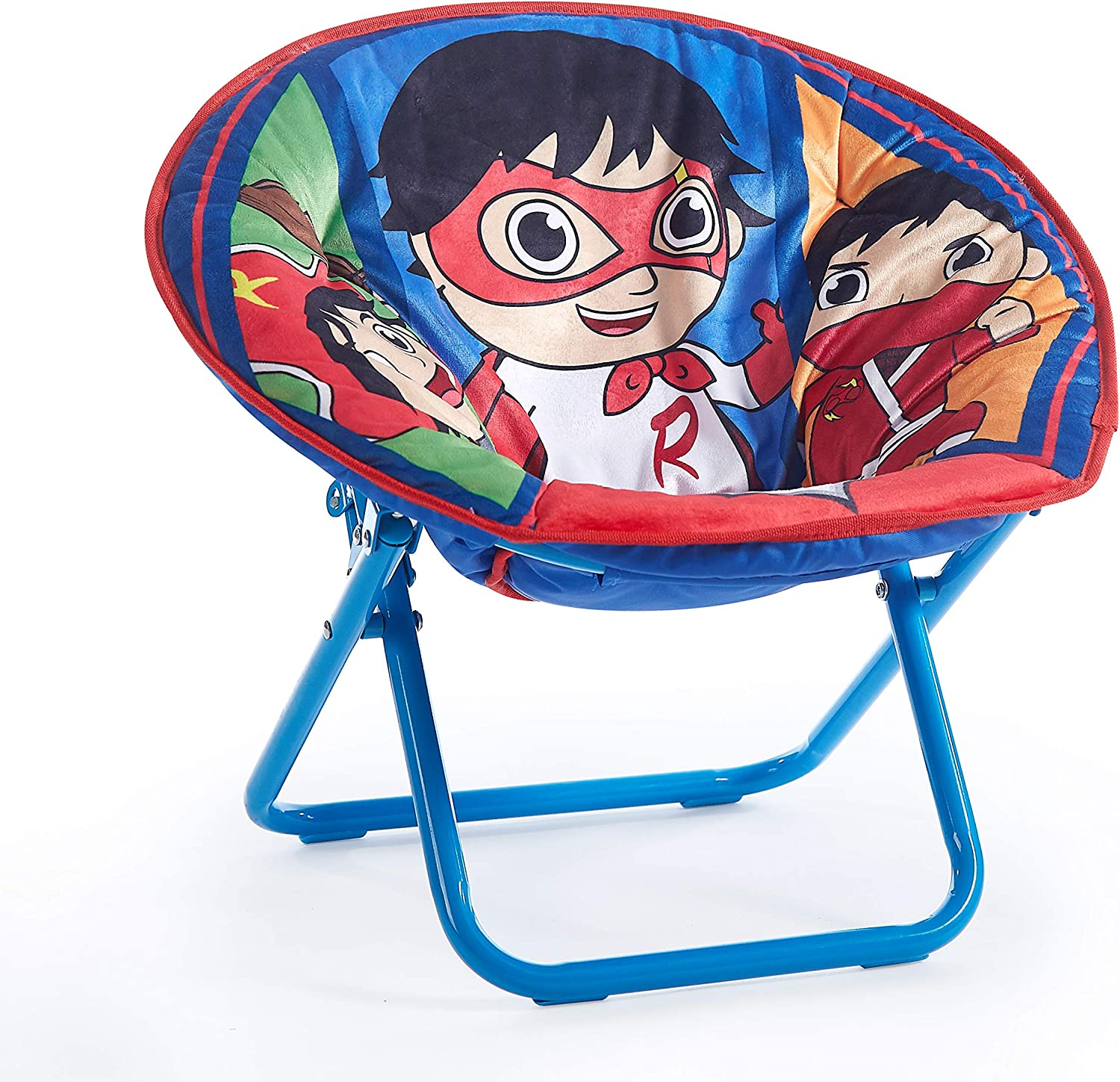 Idea Nuova Ryan's World Toddler Saucer Chair, Ages 3+, Multicolor