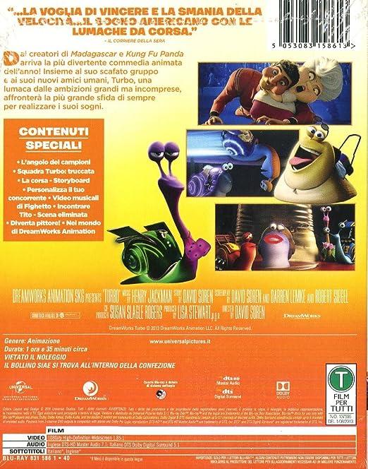 Turbo [Italia] [Blu-ray]: Amazon.es: Henry Jackman, David Soren: Cine y Series TV