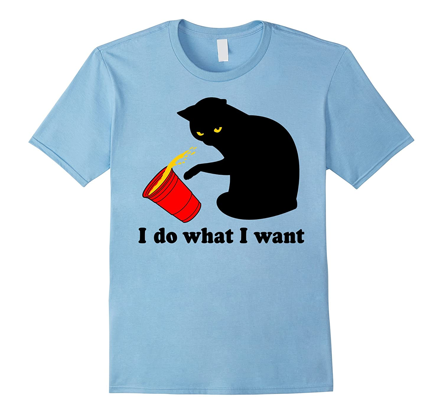 Do What I Want Black Cat Red Cup Funny Graphic T-Shirt-ah my shirt one gift