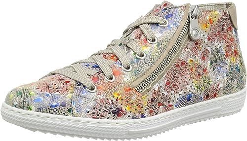 Rieker Damen FrühjahrSommer L9427 Slip On Sneaker