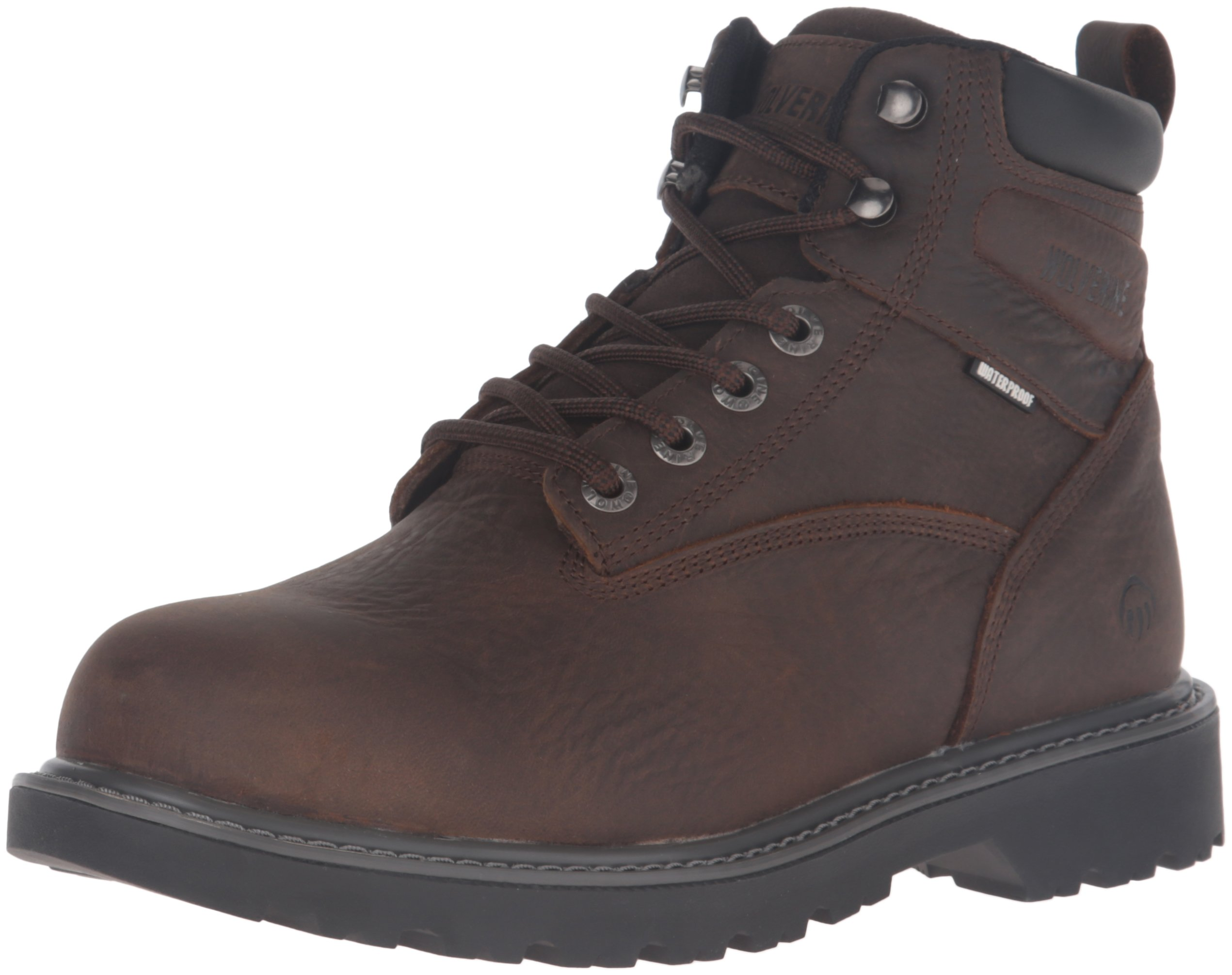 Wolverine Men's Floorhand 6 inch Waterproof Steel Toe Work Shoe, Dark Brown, 10.5 M US by Wolverine