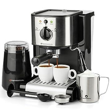 7 Pc All In One Espresso Cappuccino Maker Machine Barista Bundle