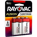 RAYOVAC 9V 2-Pack FUSION Premium Alkaline Batteries, A1604-2TFUSK