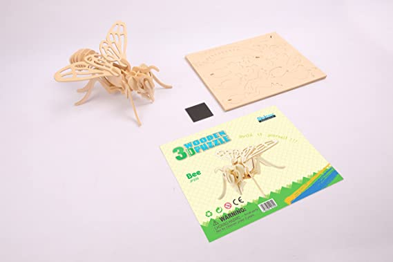 Hands Craft JP206 DIY 3D Wooden Puzzles Bee