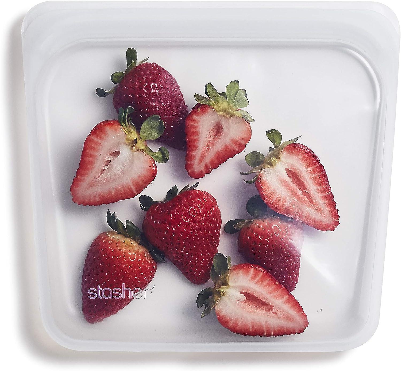 Stasher 100% Silicone Reusable Food Bag, Sandwich, Milky Way