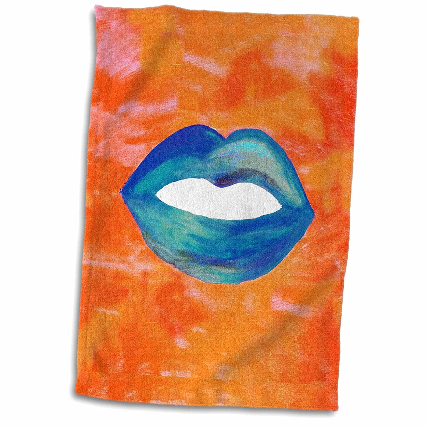 3dRose American Women African Colored Background Towel 15 x 22