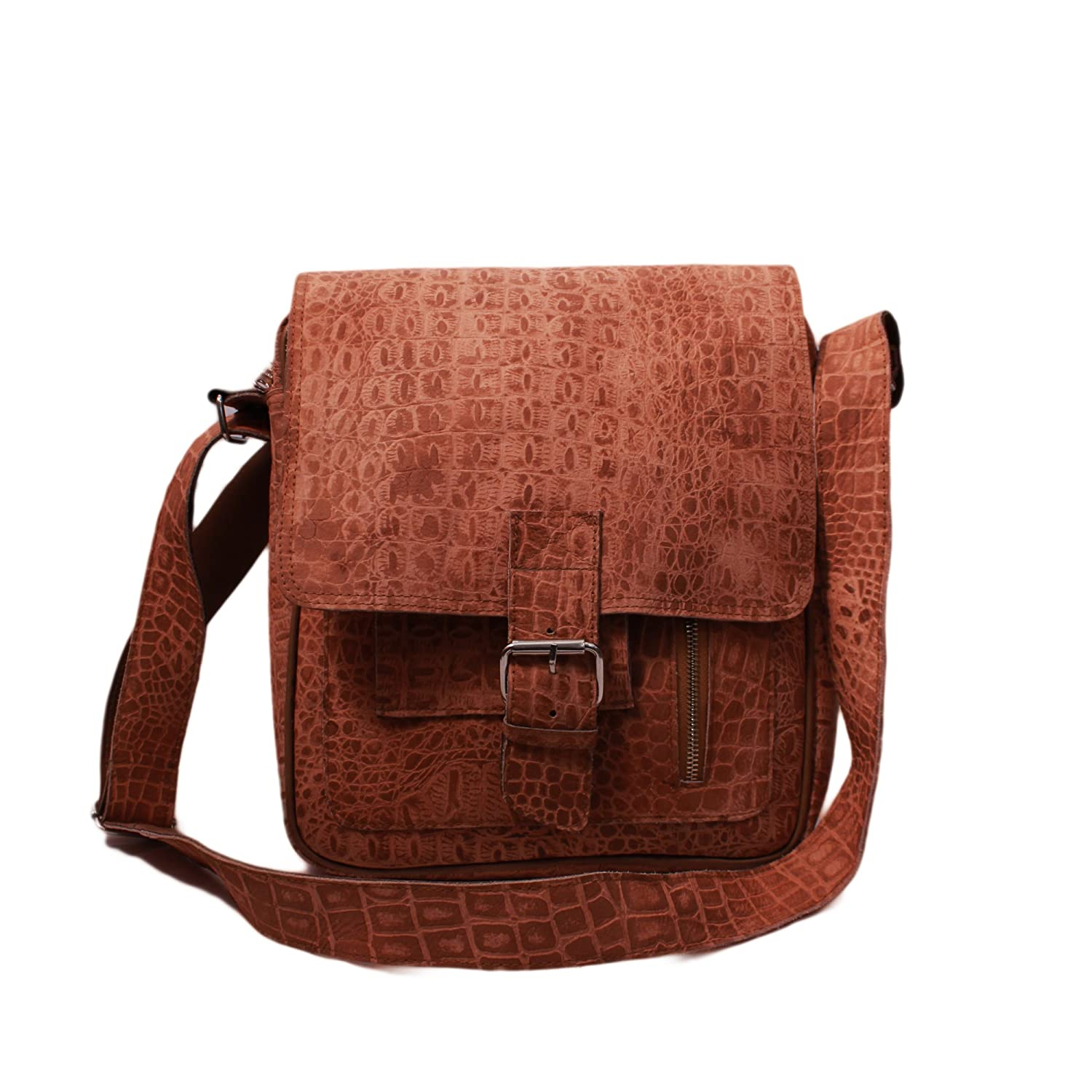 8759185d62 Buy SS Leathers Pure Brown Leather Messanger Bag Online at Low Prices in  India - Amazon.in