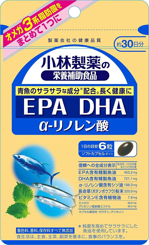 小林製薬の栄養補助食品 EPA DHA α-リノレン酸 約30日分 180粒×6個 B079VGH1YG