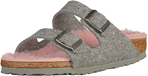 ac1d6cf85b2bbb Birkenstock Womens Womens Arizona Sandals Narrow Width in Grey Pink - UK 5.5
